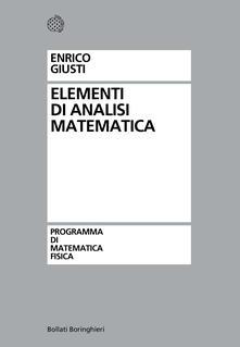 Elementi di analisi matematica - Enrico Giusti - copertina