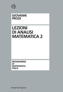 Lezioni di analisi matematica 2 - Giovanni Prodi - copertina