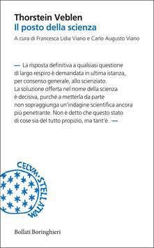 Il posto della scienza - Thorstein Veblen,Carlo Alberto Viano,Francesca Lidia Viano - ebook