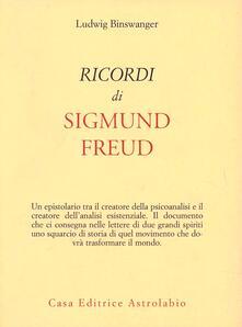Ricordi di Sigmund Freud - Ludwig Binswanger - copertina