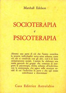 Socioterapia e psicoterapia - Marshall Edelson - copertina