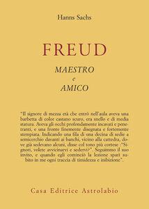 Libro Freud maestro e amico Hanns Sachs