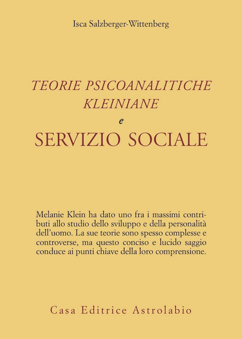 Teorie psicoanalitiche kleiniane e servizio sociale