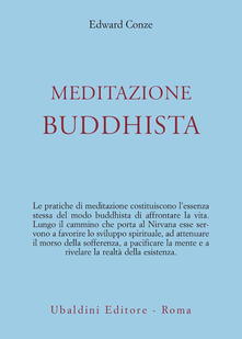Meditazione buddhista - Edward Conze - copertina