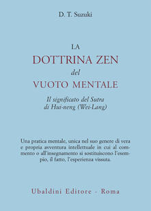 La dottrina zen del vuoto mentale - Taitaro Suzuki Daisetz - copertina