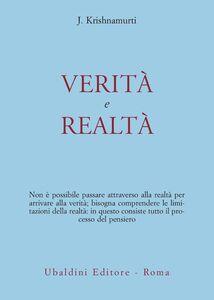 Libro Verità e realtà Jiddu Krishnamurti