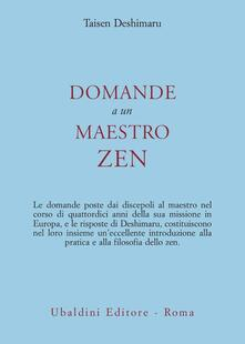 Domande a un maestro zen - Taïsen Deshimaru - copertina