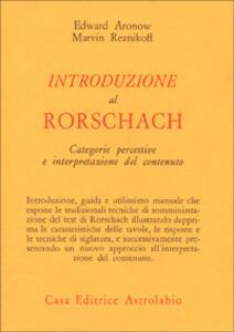 Introduzione al Rorschach. Categorie percettive e interpretazione del contenuto