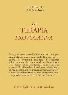 Writersfactory.it La terapia provocativa Image