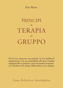Principi di terapia di gruppo - Eric Berne - copertina