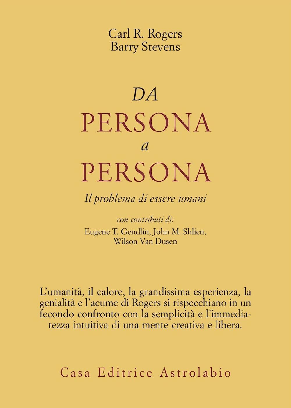 Da persona a persona. Il problema di essere umani