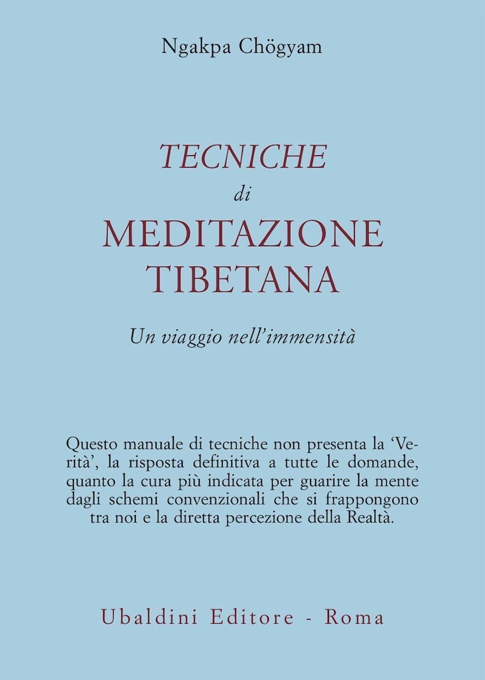 Tecniche di meditazione tibetana. Un viaggio nell'immensità