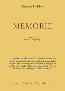 Memorie - Margaret Mahler - copertina
