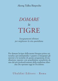 Librisulladiversita.it Domare la tigre. Insegnamenti tibetani per migliorare la vita quotidiana Image