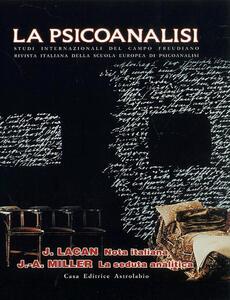 La psicoanalisi. Vol. 29: Nota italiana.