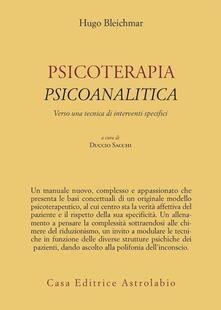 Ipabsantonioabatetrino.it Psicoterapia psicoanalitica. Verso una tecnica di interventi specifici Image