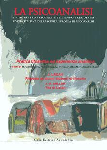La psicoanalisi. Vol. 49: Pratica filosofica..pdf