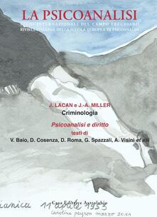 La psicoanalisi. Vol. 51: Criminologia..pdf
