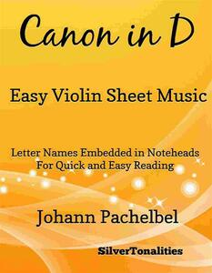 Canon in D Easy Violin Sheet Music