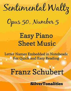 Sentimental Waltz Opus 50 Number 5 Easy Piano Sheet