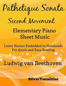 Pathetique Sonata Second Movement Elementary Piano Sheet Music