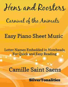 Hens and Roosters Carnival of the Animals Easy Piano Sheet Music