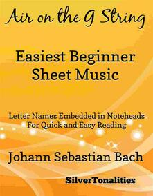Air on the G String Easiest Beginner Piano Sheet Music