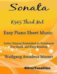 Sonata K545 Third Movement Easy Piano Sheet Music