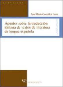 Apuntes sobre la traducción italiana de textos de literatura de lengua española