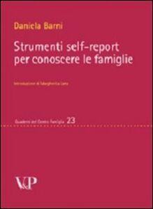 Strumenti self-report per conoscere le famiglie