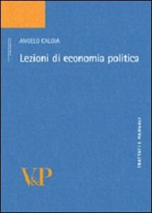 Libro Lezioni di economia politica Angelo Caloia
