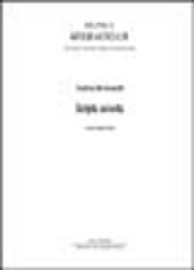 Libro Scripta selecta Orsolina Montevecchi