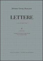 Lettere. Vol. 2: (1760-1769).