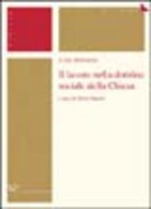 Libro Il lavoro nella dottrina sociale della Chiesa Luigi Mengoni