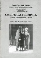 Sacrifici al femminile. Alcesti in scena da Euripide a Raboni