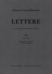 Libro Lettere. Vol. 7: 1786-1788. Johann G. Hamann