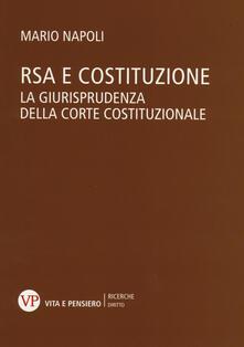 Ristorantezintonio.it RSA e costituzione. La giurisprudenza della Corte costituzionale Image