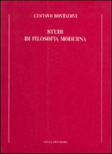Libro Studi di filosofia moderna Gustavo Bontadini