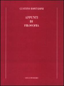 Appunti di filosofia - Gustavo Bontadini - copertina