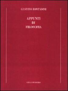 Libro Appunti di filosofia Gustavo Bontadini