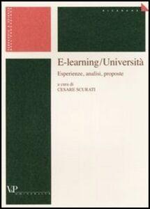 Libro E-learning/Università. Esperienze, analisi, proposte