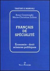 Francais de sp cialit .  conomie, droit, sciences politiques