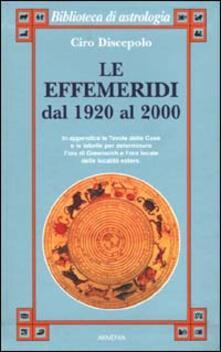 Steamcon.it Le effemeridi dal 1920 al 2000 Image