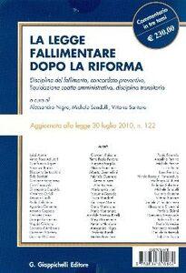Foto Cover di La legge fallimentare dopo la riforma. Disposizioni generali fallimento, Libro di  edito da Giappichelli