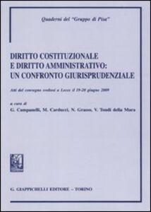 Libro Diritto costituzionale e diritto amministrativo. Un confronto giurisprudenziale. Atti del Convegno (Lecce, 19-20 giugno 2009)