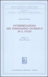 Interpretazione del formalismo giuridico in E. Stein