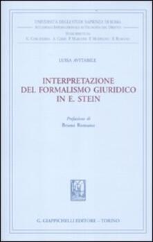 Mercatinidinataletorino.it Interpretazione del formalismo giuridico in E. Stein Image