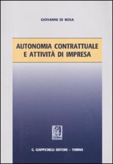 Camfeed.it Autonomia contrattuale e attività di impresa Image
