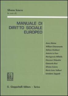 Winniearcher.com Manuale di diritto sociale europeo. Con riferimenti aggiornati al Trattato di Lisbona Image