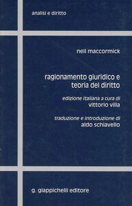 Foto Cover di Ragionamento giuridico e teoria del diritto, Libro di Neil McCormick, edito da Giappichelli